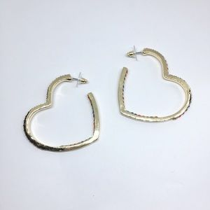 NWOT baublebar color crystal hoop earrings